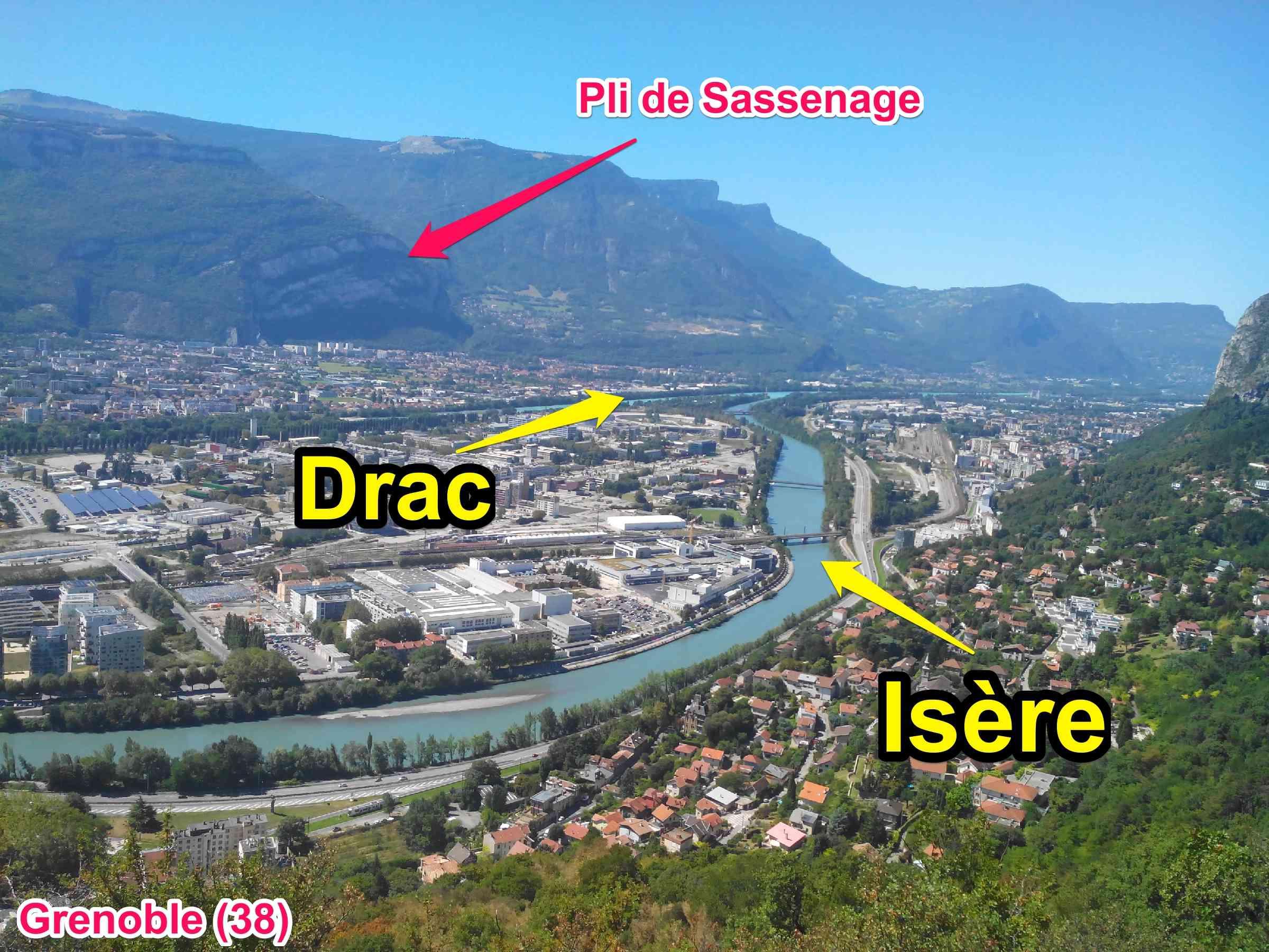 drac isère pli de sassenage Grenoble Alpes géologie