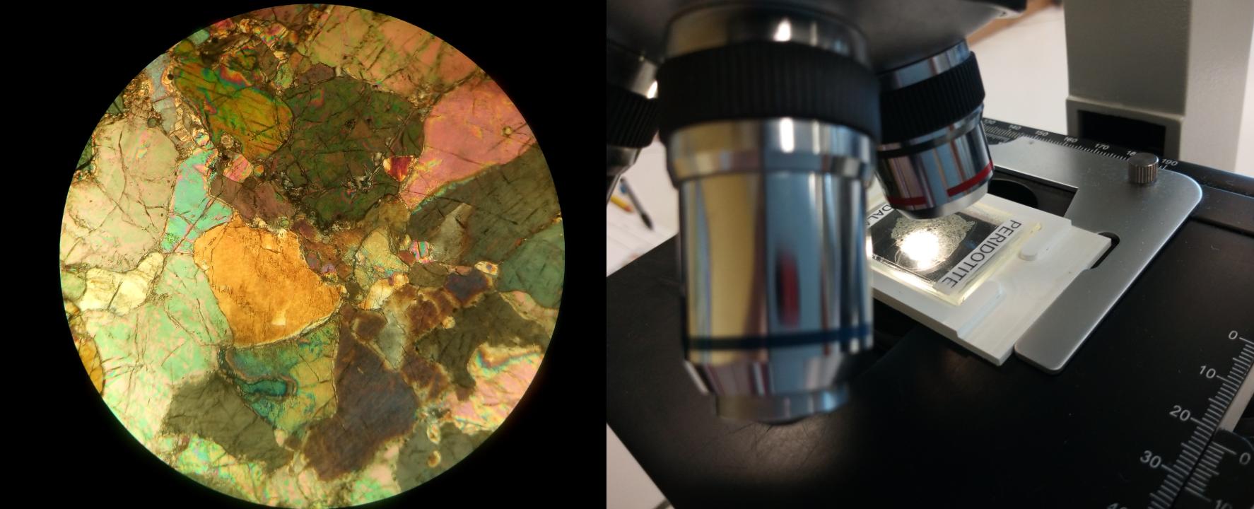 péridotite au microscope olivine SVT 1ère S