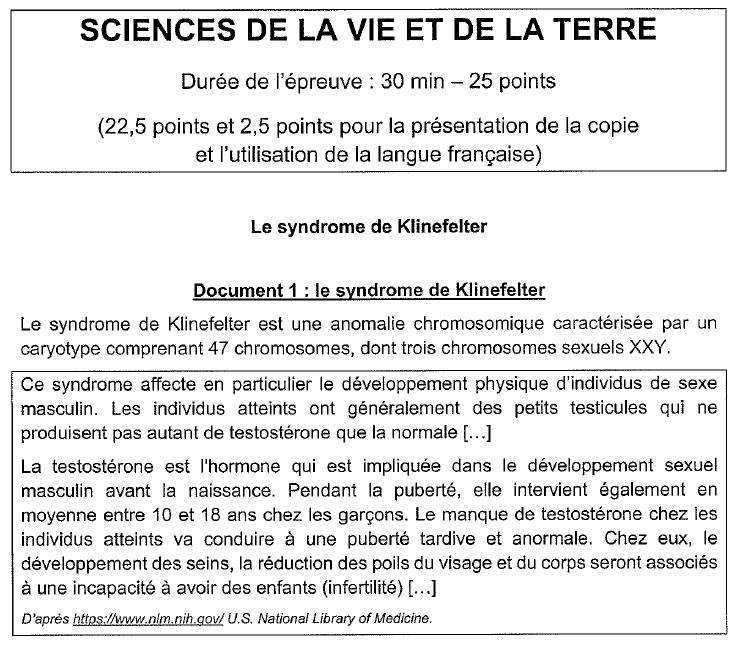 sujet SVT physique chimie Brevet 4