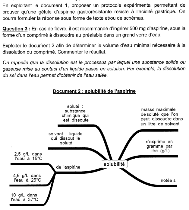 sujet SVt physique chimie Brevet 3
