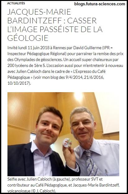 Jacques-Marie Bardintzeff Julien Cabioch SVT géosciences