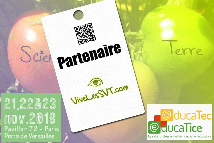 salon de l'éducation 2018 Educatec Educatice Vive Les SVT